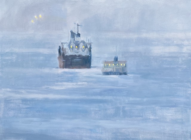 ships in sea, moody ships, atmospheric paintings, loneliness, isolated at sea
