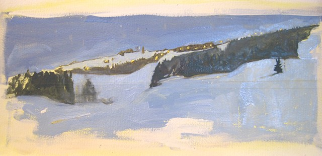 painitngs of ski slopes, ski areas