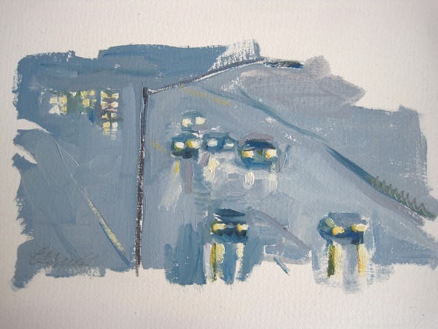 painting of traffic, route 95
