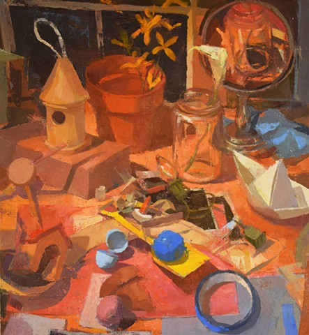 Still Life with Paper Boat