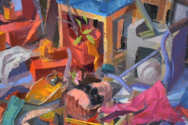 DETAIL: Still Life with Mirror (Echoes)