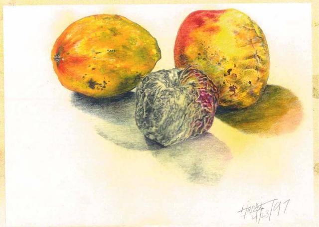 An Apple & 2 Mangoes