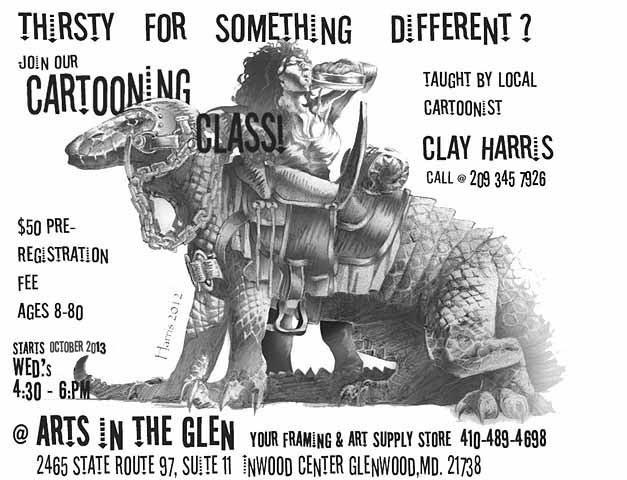 Cartooning Classes at Arts in the Glen, Glenwood, Maryland