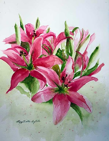 Lily Lovelies by Mary Walker Baptiste