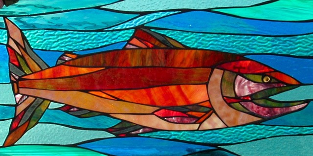 Salmon Stained Glass