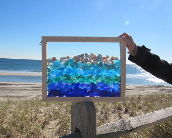 Tumbled Glass Sea Glass Frame