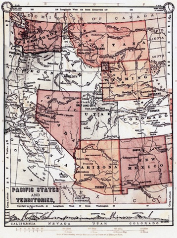 Map of CA and Nevada