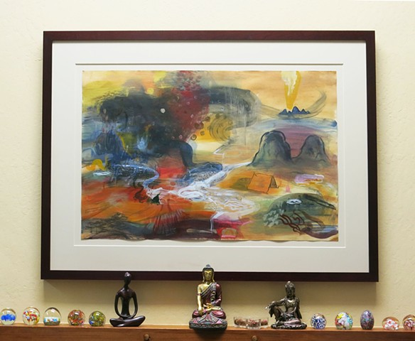 framed painting - collection C. Marteney
