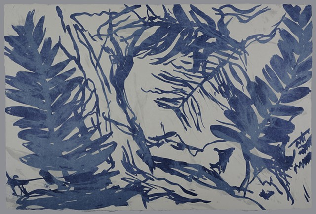 "Blue Fossil Fern 4 of the series ""Fossilized."""