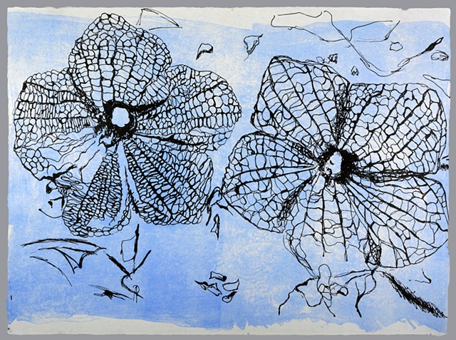 "Flowers.  8 of the Series ""Fossilized."""