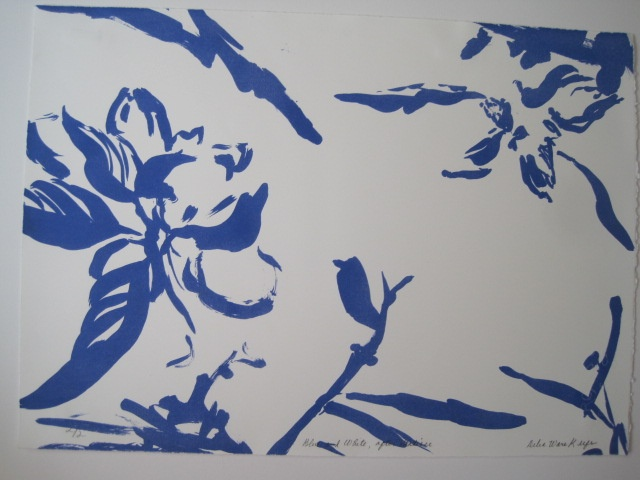 Blue and White, After Matisse