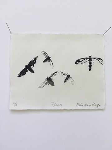 """Flies. 18 of the series """"Fossilized"""""""