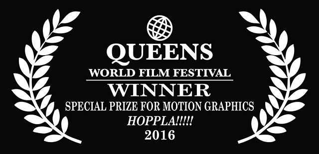 HOPPLA!! wins Special Award for Motion Graphics, QWFF