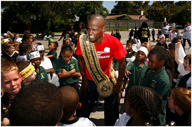 "Darryl Young teaches the students at Green Park Elementary about dancing and second line culture through his program |wwww.heal2toe.com|""Heal To Toe""