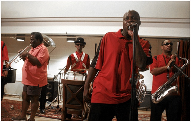 The Treme Brass Band performs during the Grand Opening of the New Orleans Healing Center.