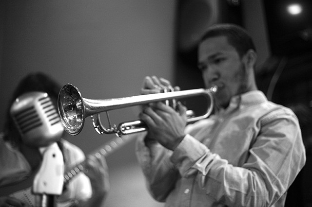 trumpet, Glen Andrews, Trumpet player, New Orleans, Musician, New Orleans Musician, horn player, brass band concert photography