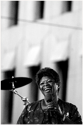 "Irma Thomas, ""Soul Queen of New Orleans"", performs at Lafayette square during the ""YLC Wednesday at The Sqaure"" weekly concert series. The concerts are free to the public and feature various food and craft vendors who raise money for the Second Harvest Fo"
