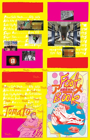 Foot Anime Book (cover and endpaper spreads)