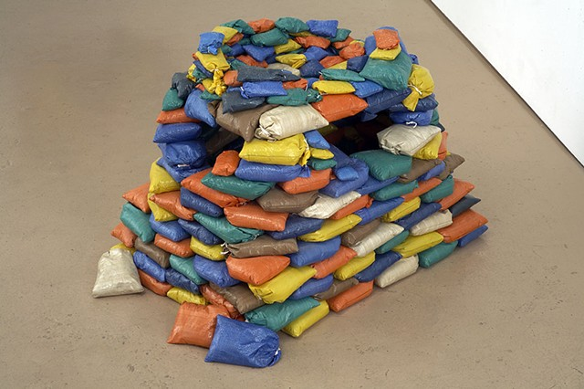 colored sandbag bunker (model) by Michael Bernstein