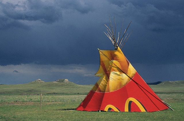 Billboard Teepee [tipi] by Michael Bernstein