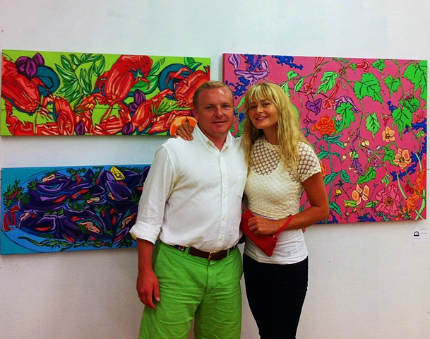 With Steve Carter, owner, curator, Gallery 100 LBI, Beach Haven, NJ
