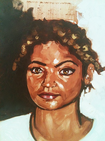Oil painting of arabic girl by Maggie Wolszczan