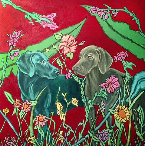 Art margaux, weimaraners, paintings, art