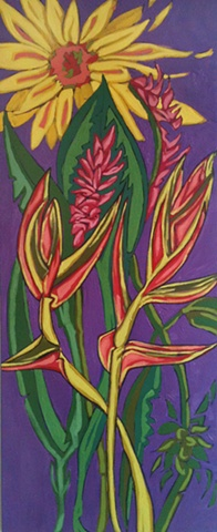Birds of paradise painted by maggie wolszczan