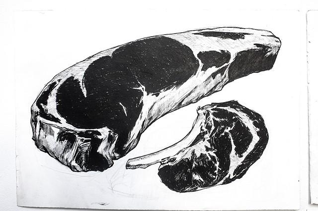 Steaks drawing