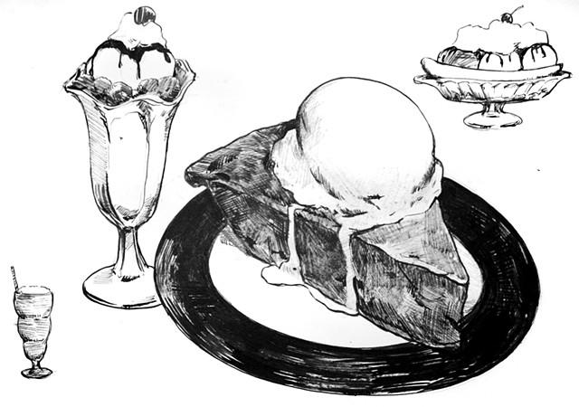 Dessert Drawing