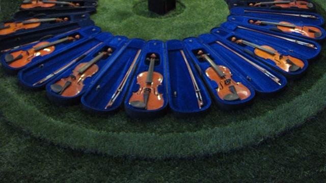 grass, violins, Gina Brezini, Venice, Italy, Film Festival, Golden Lion, installation, music, concert, sculpture, om, prayer, Tibet, mantra, Tara