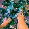 Green Feet on Purple