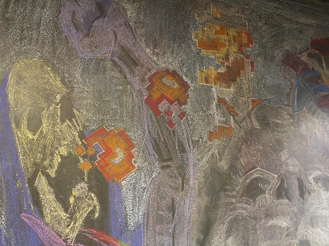 Mythological Creatures Mural Detail