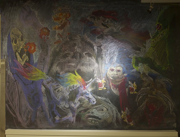 Mythological Creatures Mural