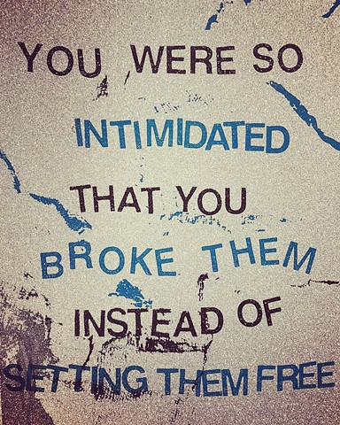 You Were So Intimidated That You Broke Them Instead of Setting Them Free