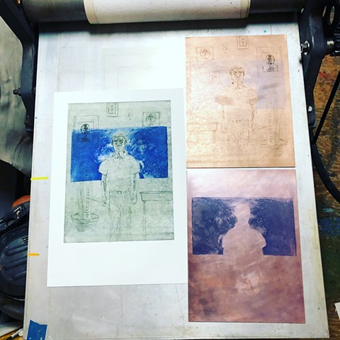 Intaglio Edition for Nadia Awad - In Progress