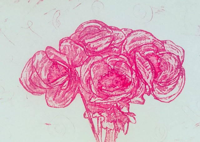 Peonies - Softground Etching