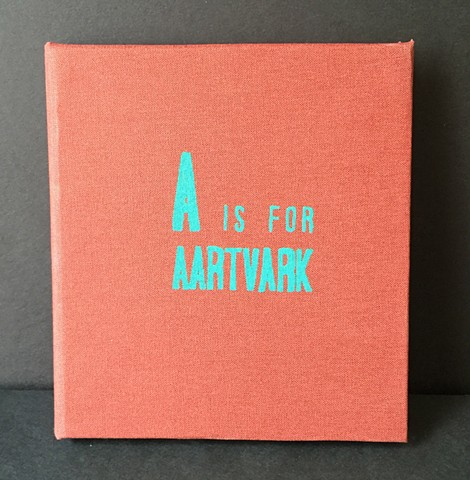 part of a handmade book with silkscreened prints.