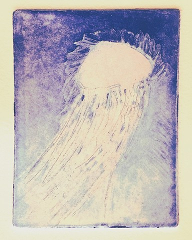 Jellyfish - Glow in the Dark Etching