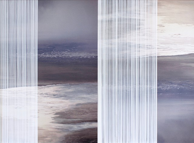 Michael Boonstra Oregon artist created photographic images of a lakebed.
