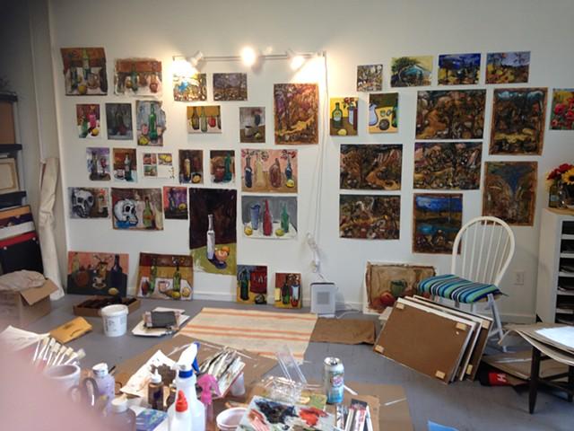 Paintings in my studio