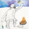 The Rebbe and the Moon Study III