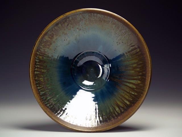 Brown/Green/Blue Large Bowl