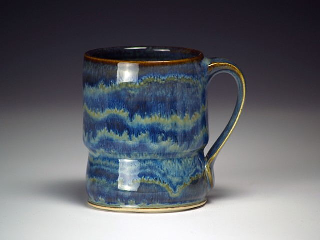 Blue Striped Mug