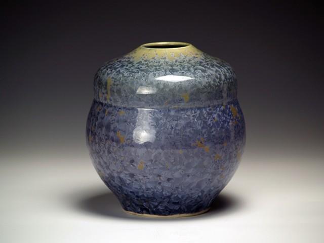 Purple Cone 6 Crystalline Vase