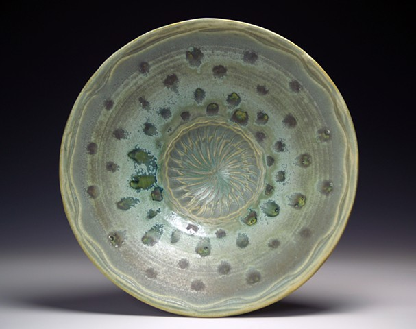 Green with Dots Large Bowl