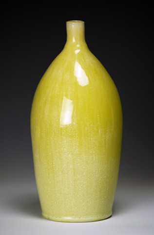Lemon Yellow Cone 6 Crystalline Bottle