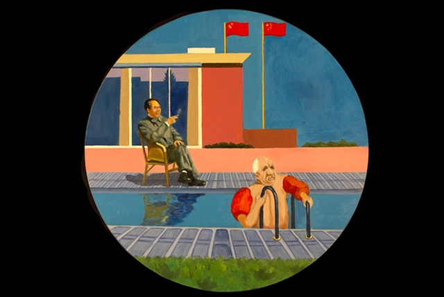 Swim Date: Mao and Khrushchev 1958 (after David Hockney)