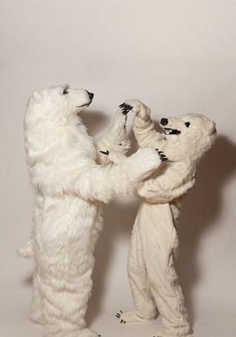 Polar Bear and friend. Photo by Benjamin Heller.
