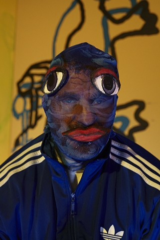 Bjarne in the mesh mask.